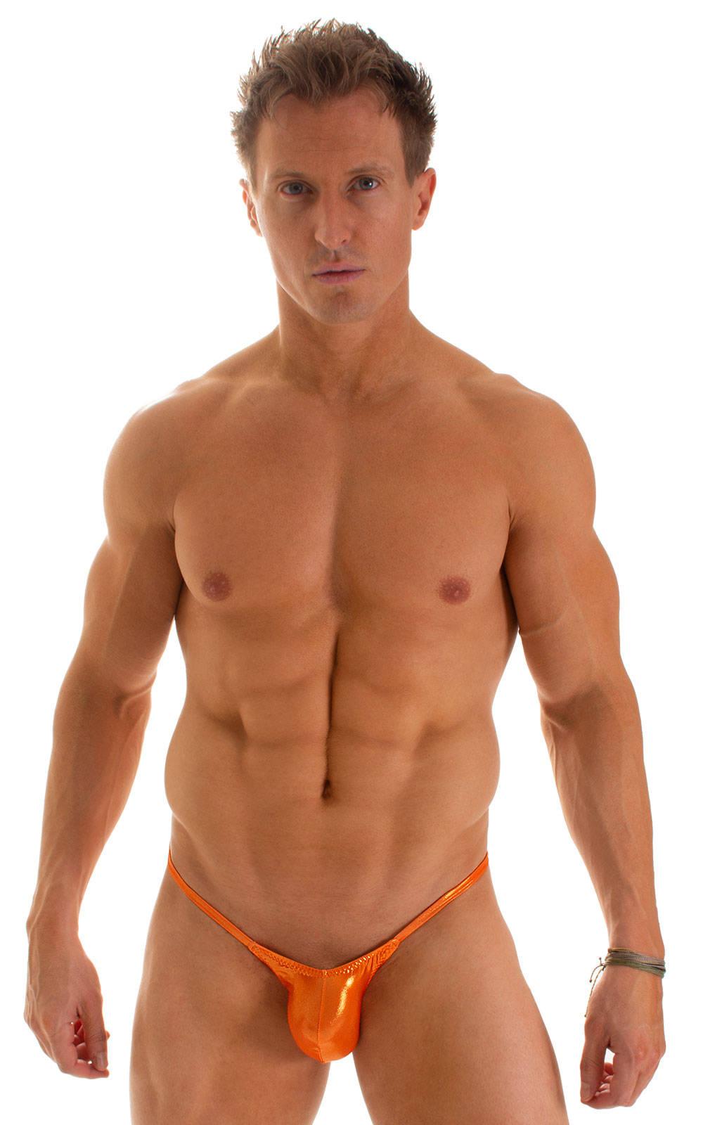 Micro Pouch - Puckered Back - Rio Bikini in Ice Karma Atomic Tangerine 2