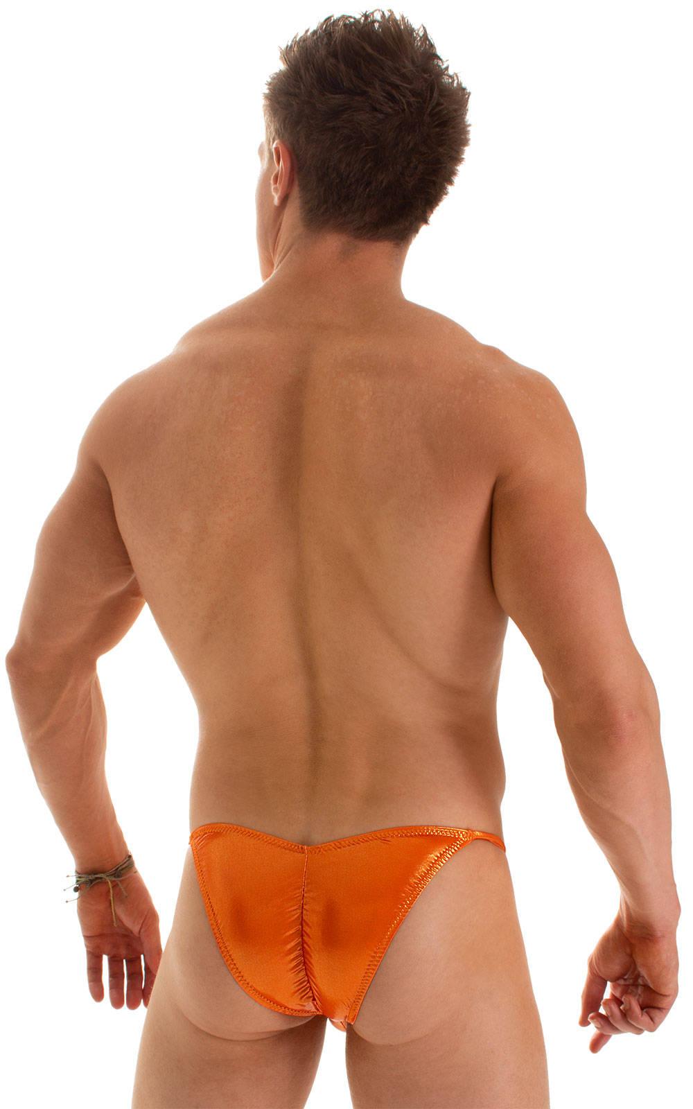 Micro Pouch - Puckered Back - Rio Bikini in Ice Karma Atomic Tangerine 1