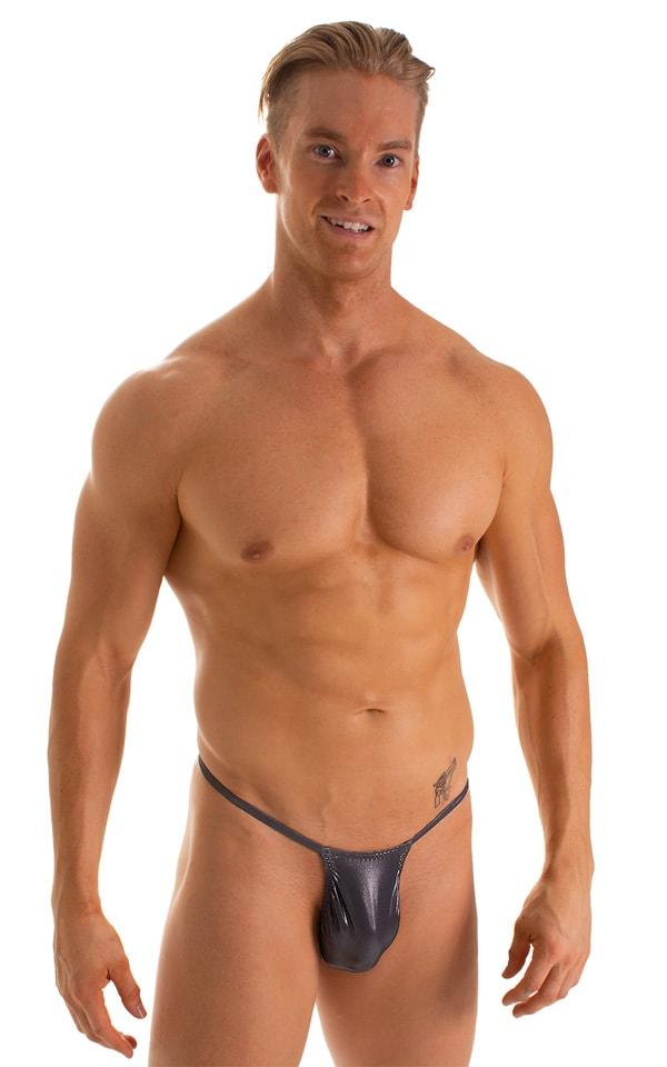 Roman G String Swim Thong in Black ice 1
