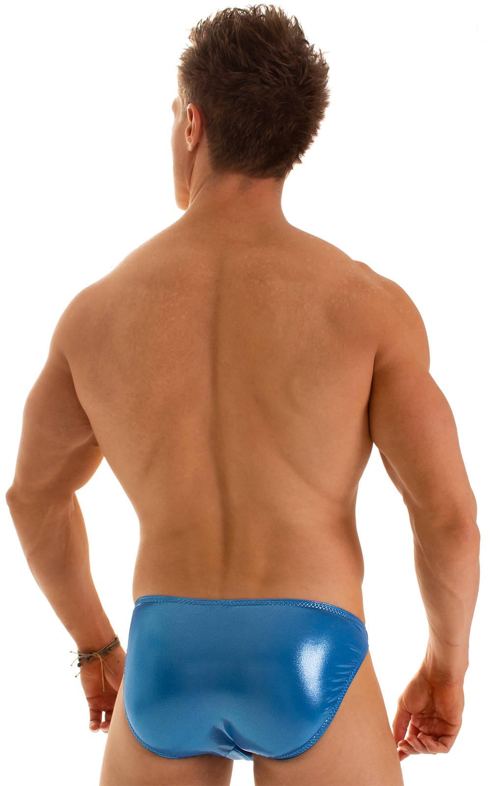 Bikini-Brief Swimsuit in Ice Karma Electric Blue 2