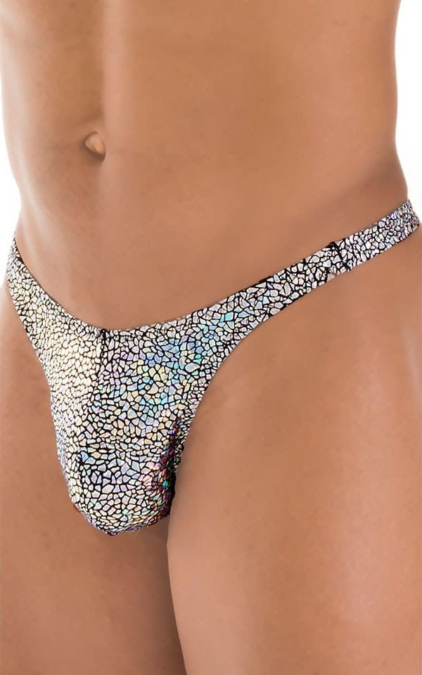 T Back Thong Swimsuit in Diamonds 4