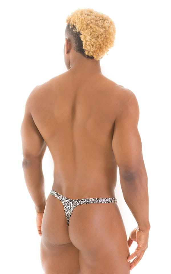 T Back Thong Swimsuit in Diamonds 3