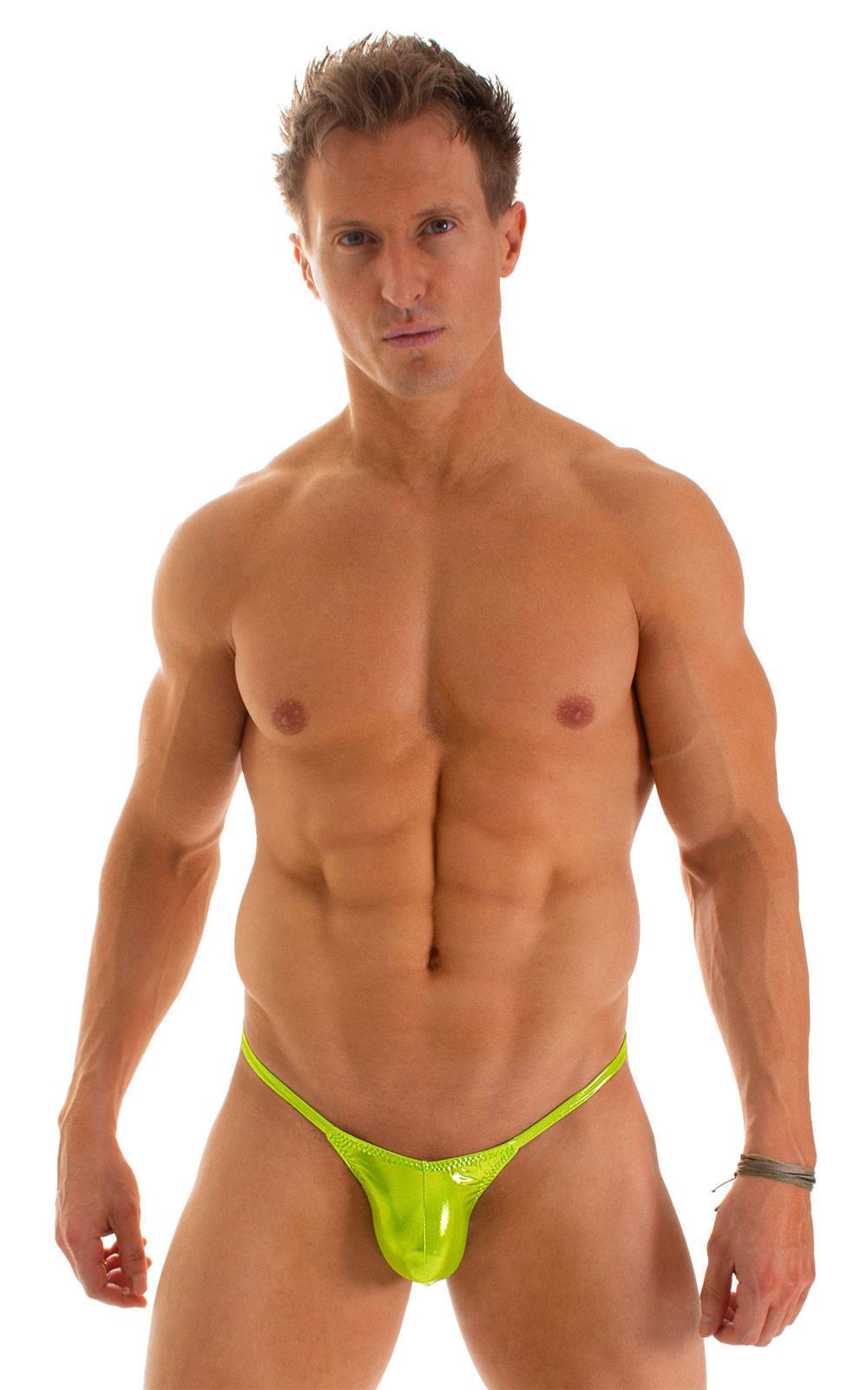 Micro Pouch - Puckered Back - Rio Bikini in Ice Karma Lemon-Line 1