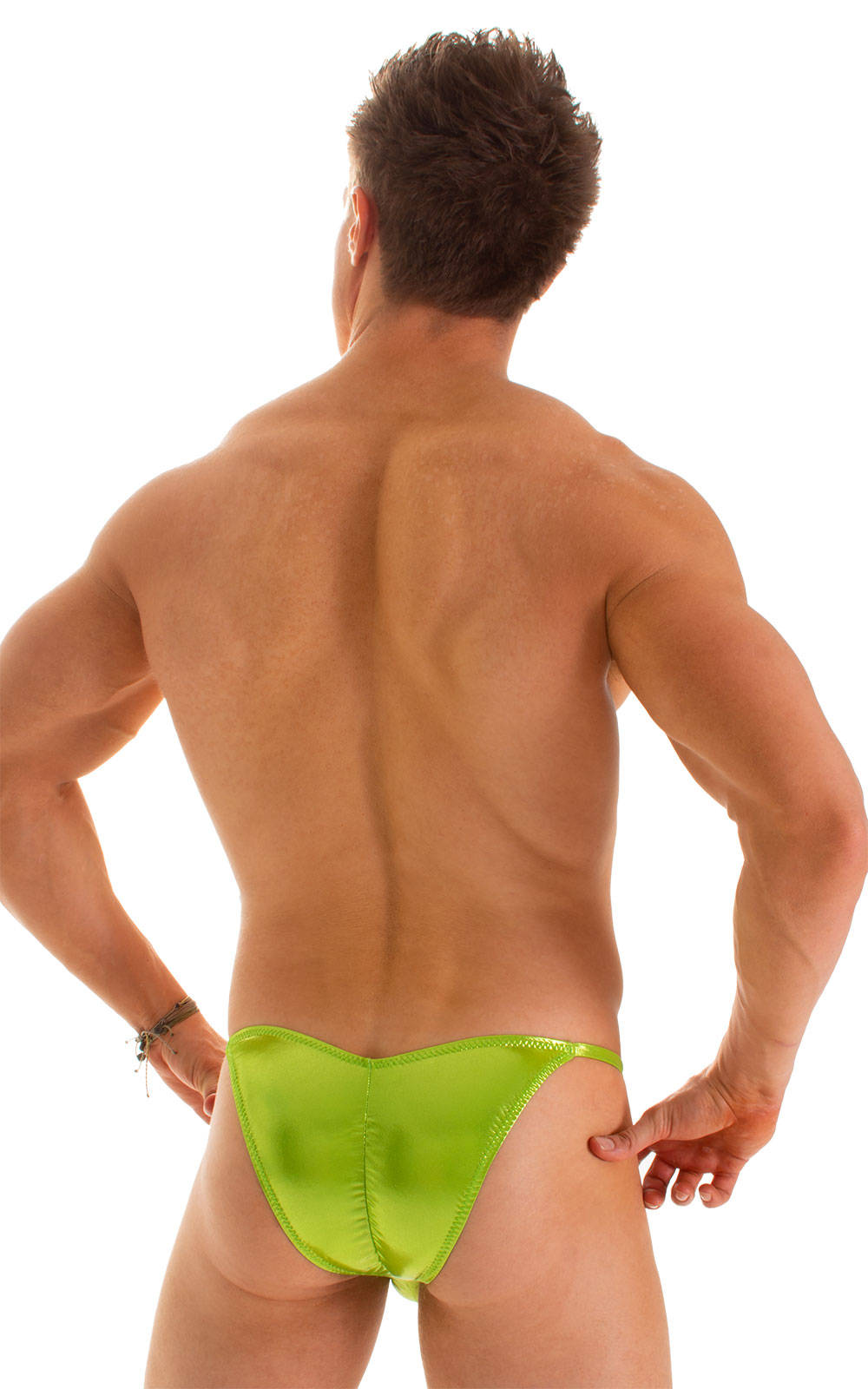 Micro Pouch - Puckered Back - Rio Bikini in Ice Karma Lemon-Line 2