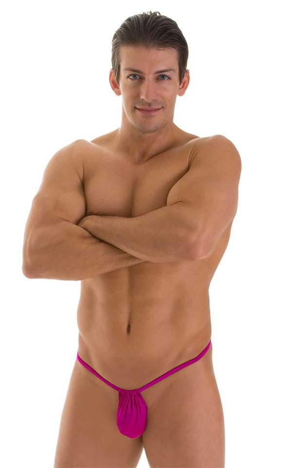 G String Swimsuit - Adjustable Pouch in Magenta  4