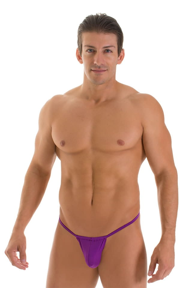 G String Swimsuit - Adjustable Pouch in ThinSKINZ Grape  4