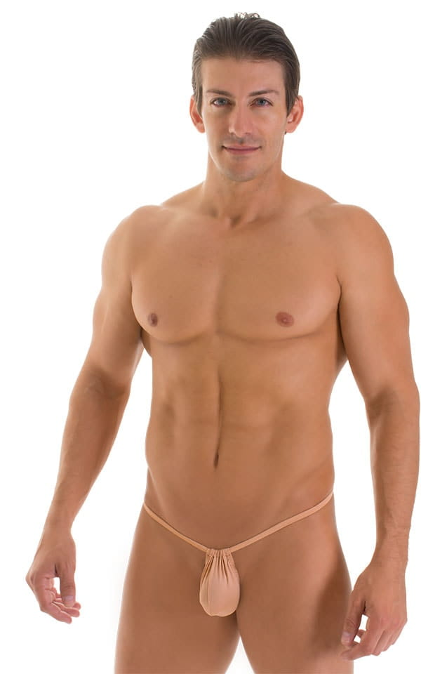 G String Swimsuit - Adjustable Pouch in Super ThinSKINZ Nude  1
