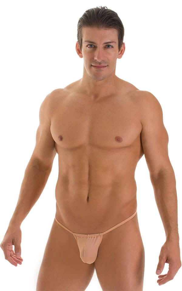 G String Swimsuit - Adjustable Pouch in Super ThinSKINZ Nude  4