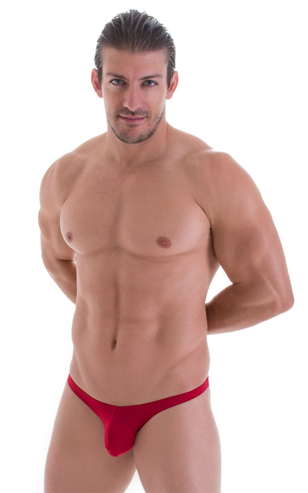 Stuffit Pouch Bikini Swimsuit in ThinSKINZ Lipstick Red 1