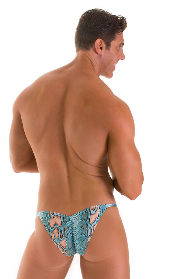 Micro Pouch - Puckered RIO Back in Super ThinSKINZ Aqua Python 2