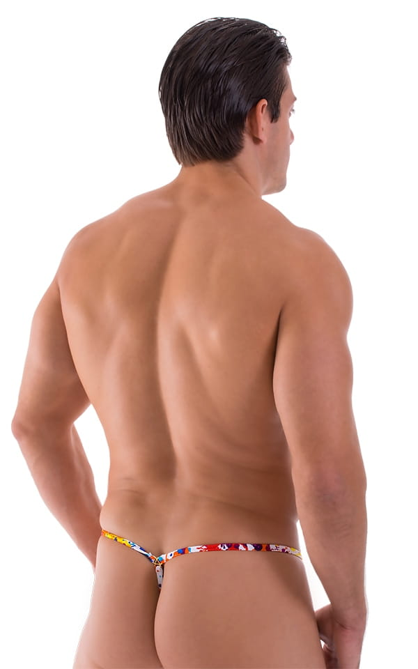 mens g string print back