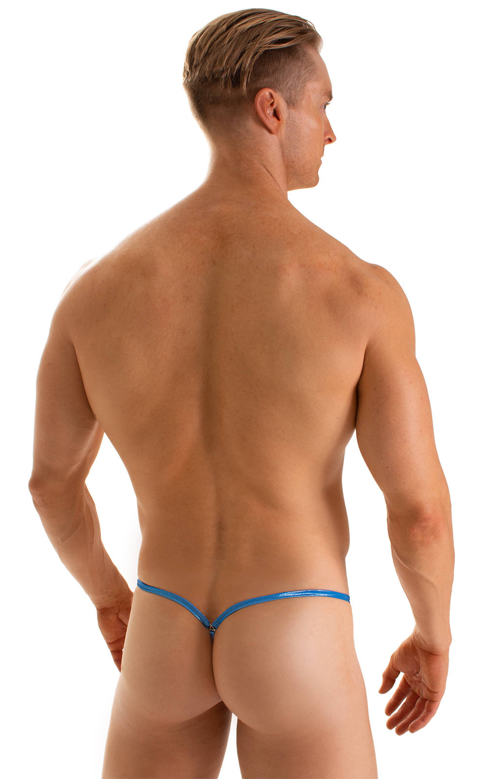Stuffit Pouch G String Swimsuit in Ice Karma Electric Blue 2
