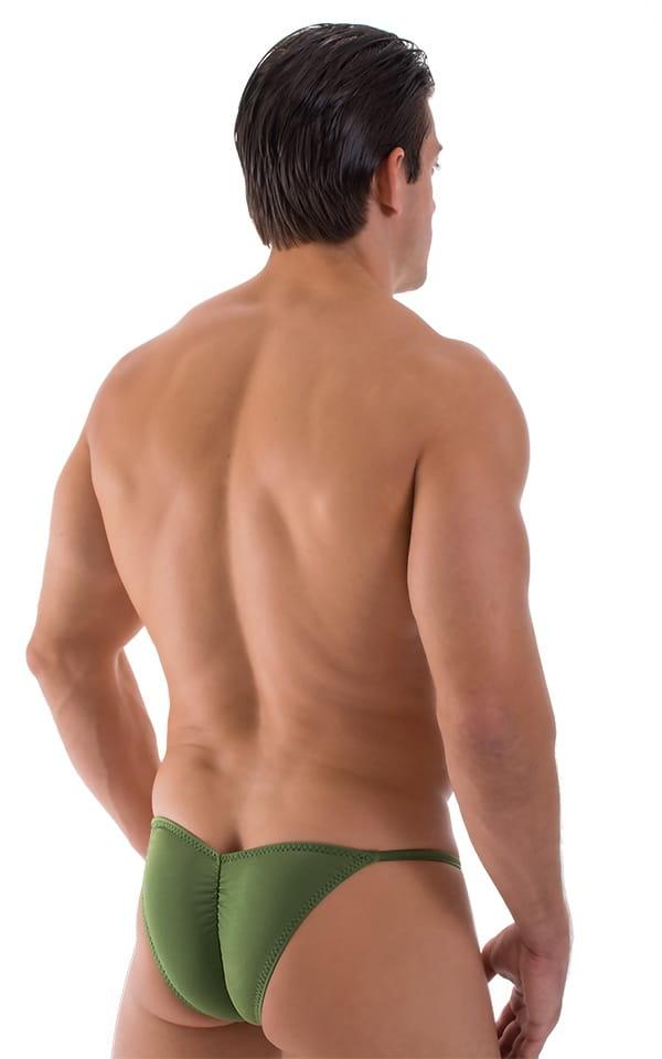 Micro Pouch - Puckered Back - Rio Bikini in Semi Sheer Sage 3