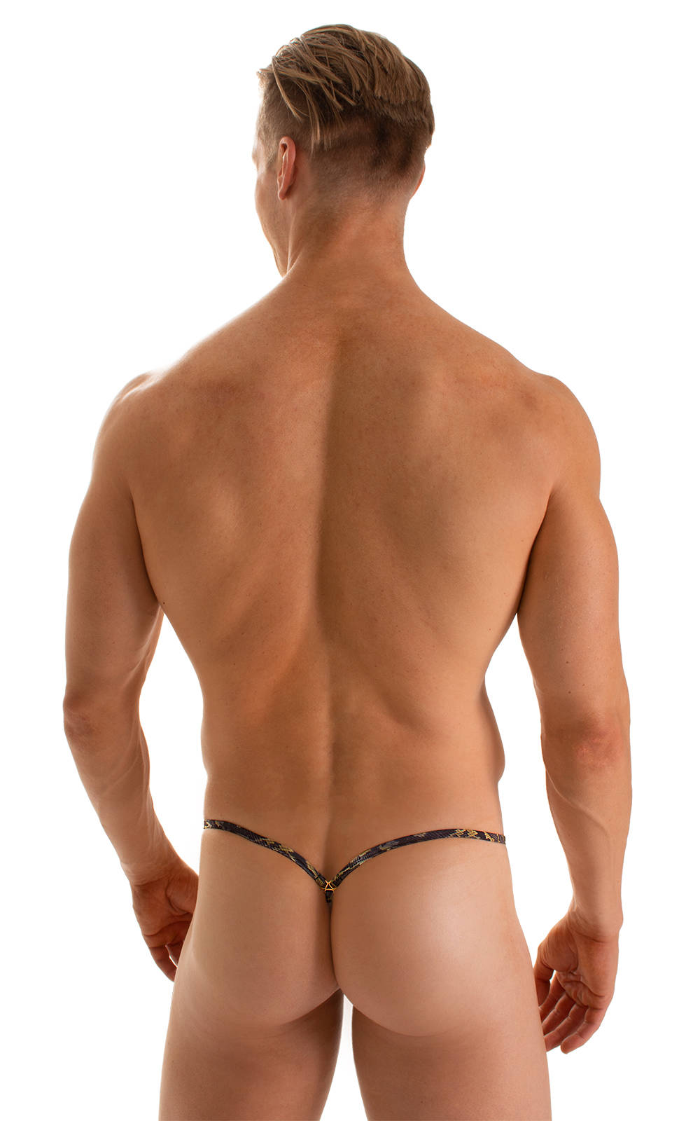 Stuffit Pouch G String Swimsuit in Super ThinSkinz Coiled Python 2