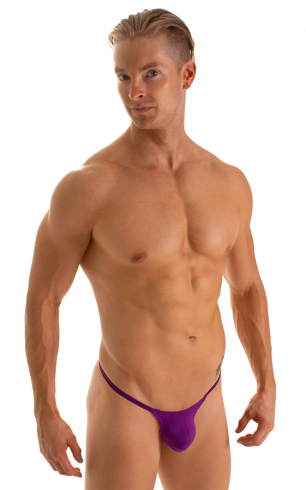 Stuffit Pouch G String Swimsuit in ThinSKINZ Grape 1