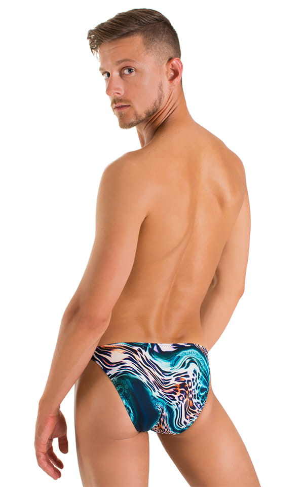 Smooth Front Bikini in Aqua Leopard 3