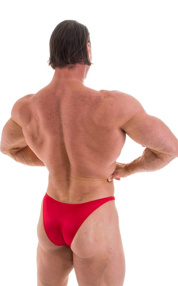 Bodybuilder Posing Suit - Narrow Back in Wet Look Lipstick Red 6