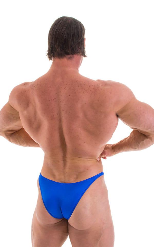 Bodybuilder Posing Suit - Narrow Back in Wet Look Royal Blue 6