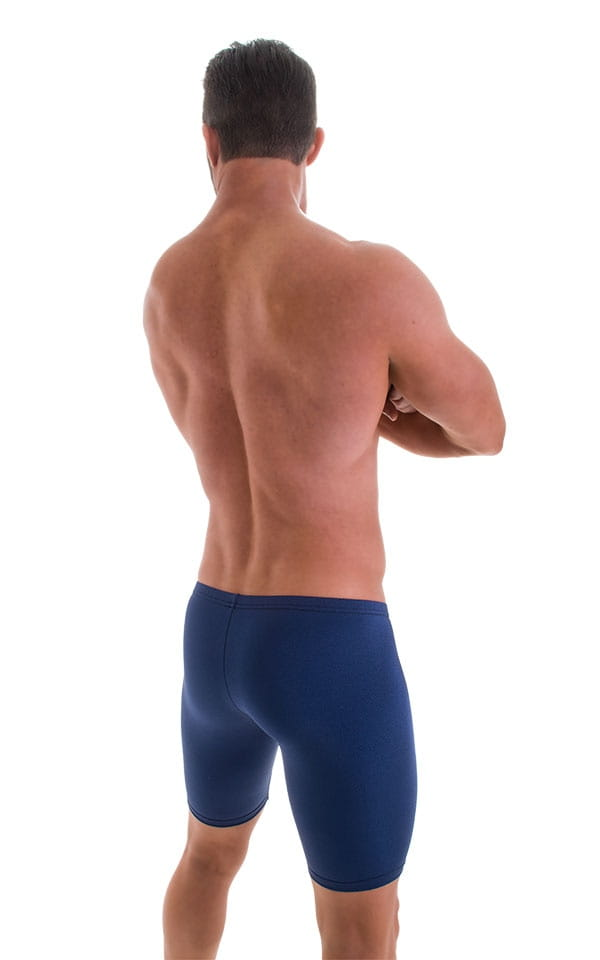 Fitted Pouch Lycra Shorts in Navy Blue 3