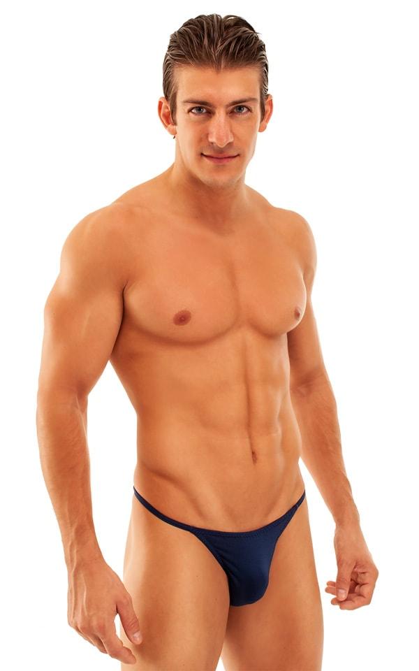 Super Low Brazilian Bikini in Semi Sheer ThinSKINZ Navy Blue 1