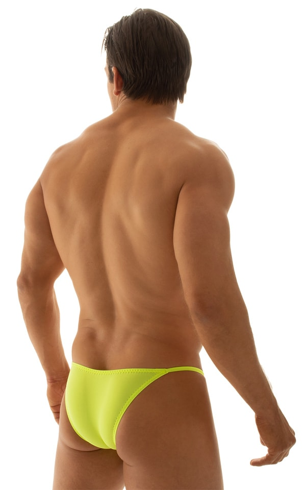Stuffit Pouch Half Back Tanning Swimsuit in ThinSKINZ Chartreuse 3