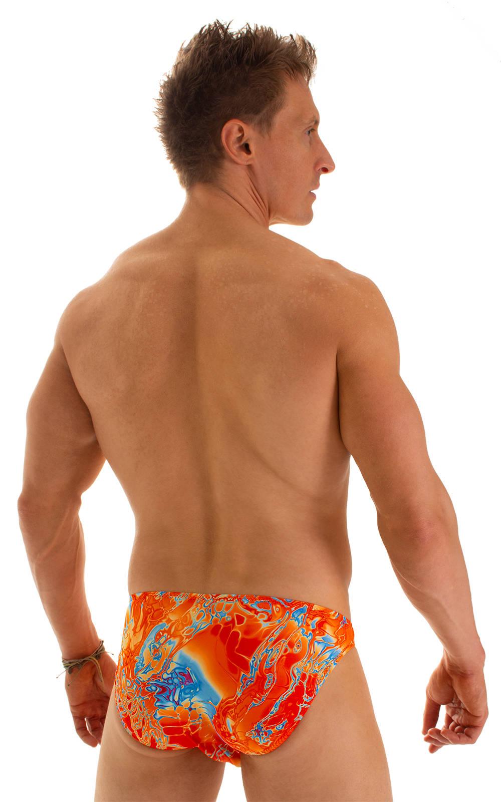 Bikini-Brief Swimsuit in Vapor Wave Orange 2