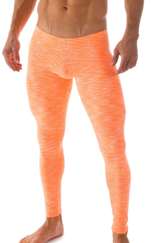 b2f60632324f6 Mens Low Rise Leggings Tights in Orange White Strata | Skinzwear.com