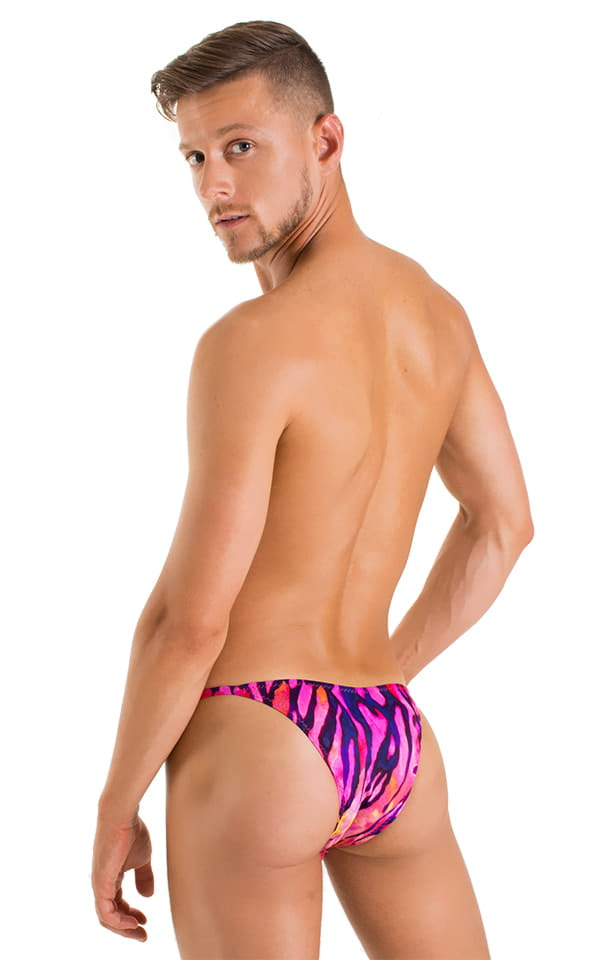 Stuffit Pouch Half Back Tanning Swimsuit in Beach Tiger Pink 3