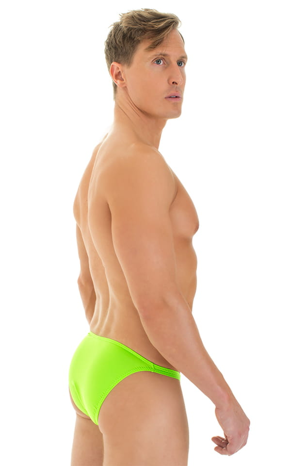Smooth Front Bikini in Lime 3