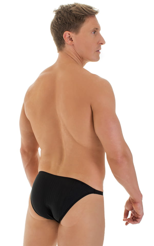 ed6b090fe Smooth Front Bikini in Ribbed Black