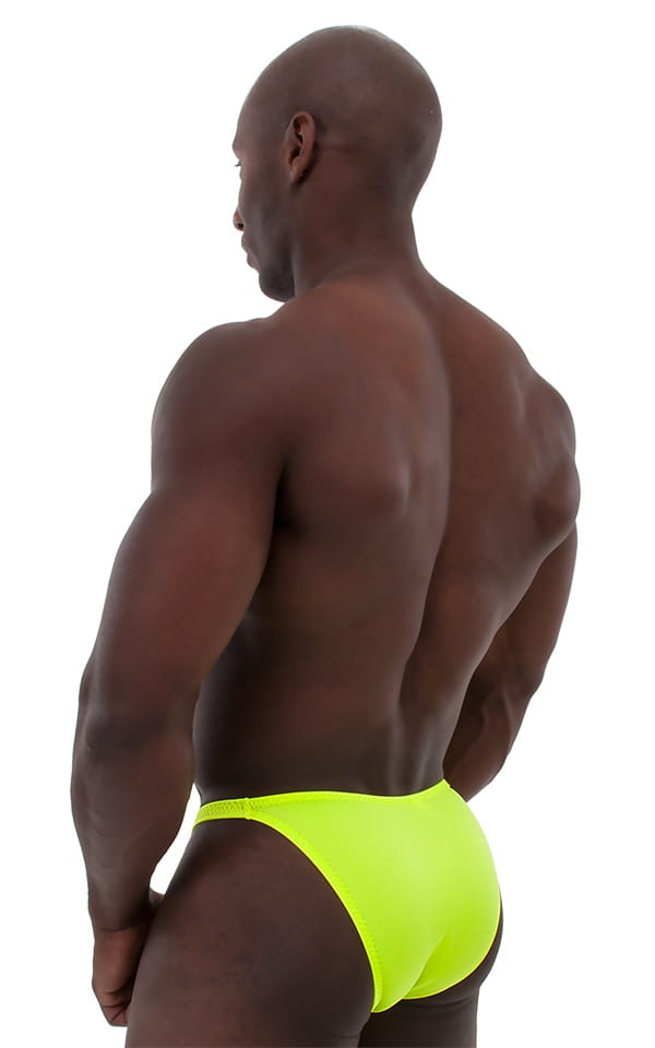 Posing Suit - Competition Bikini Cut in Chartreuse 3