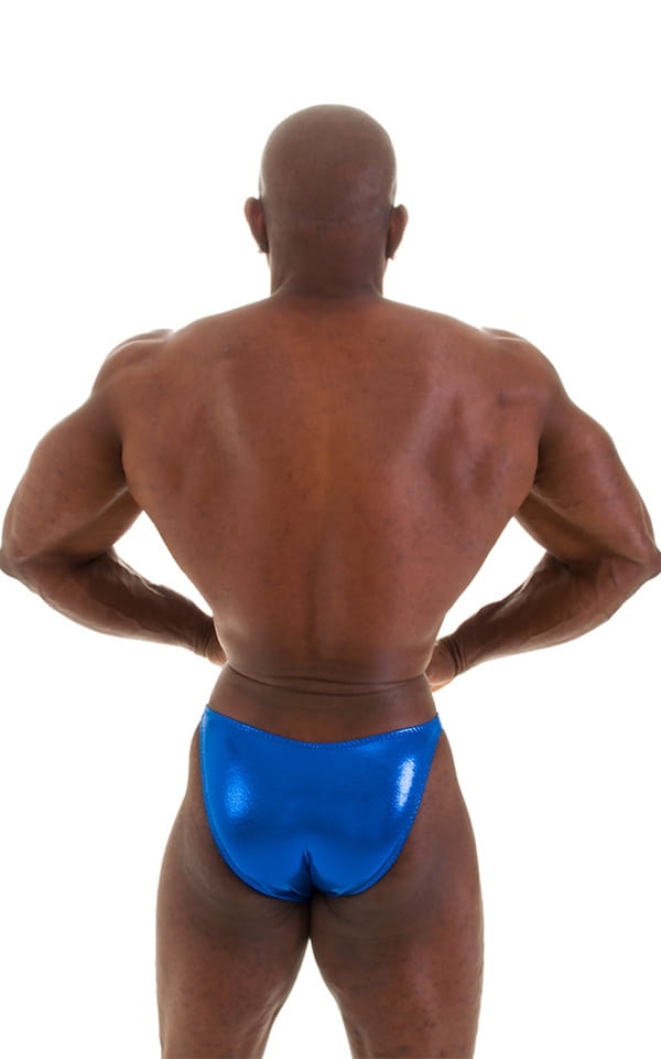 Posing Suit - Competition Bikini Cut in Metallic Royal Blue 6