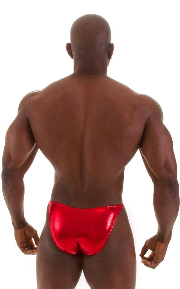 Posing Suit - Competition Bikini Cut in Metallic Volcano Red 6