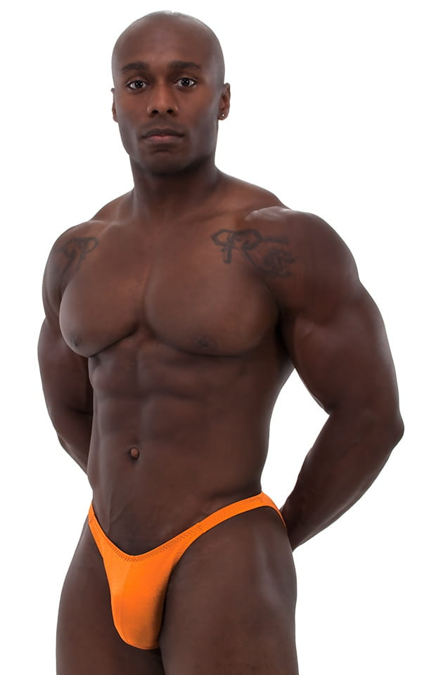 Posing Suit - Competition Bikini Cut in Neon Orange 1