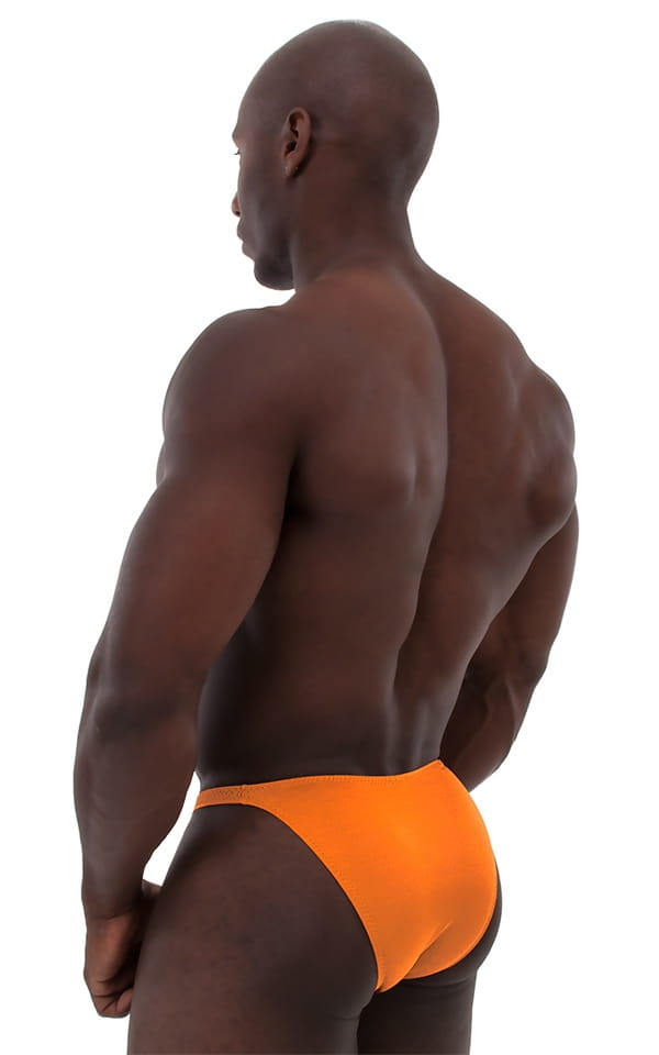 Posing Suit - Competition Bikini Cut in Neon Orange 3