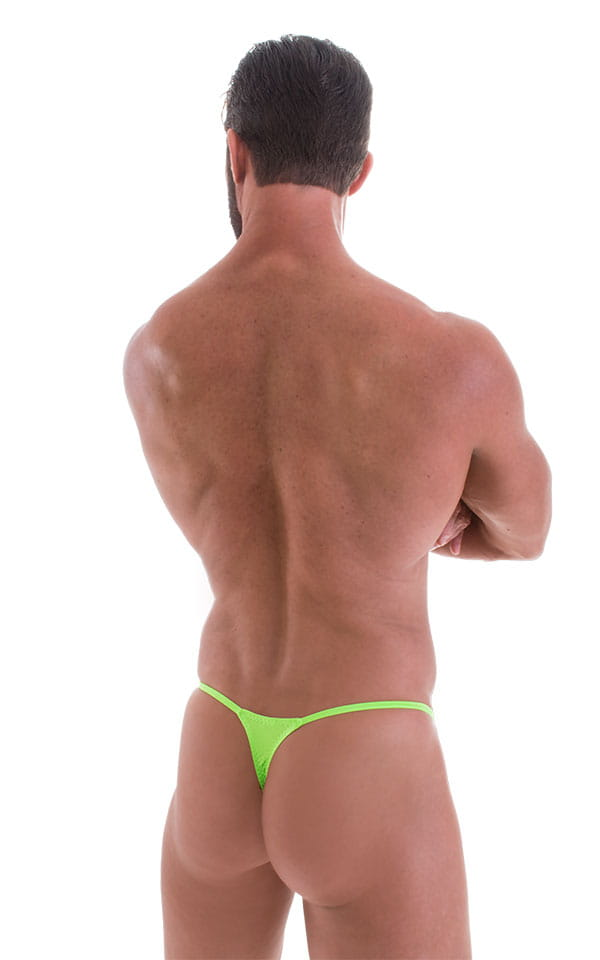 Smooth Pouch Skinny Sides Swim Thong in ThinSKINZ Neon Lime 3