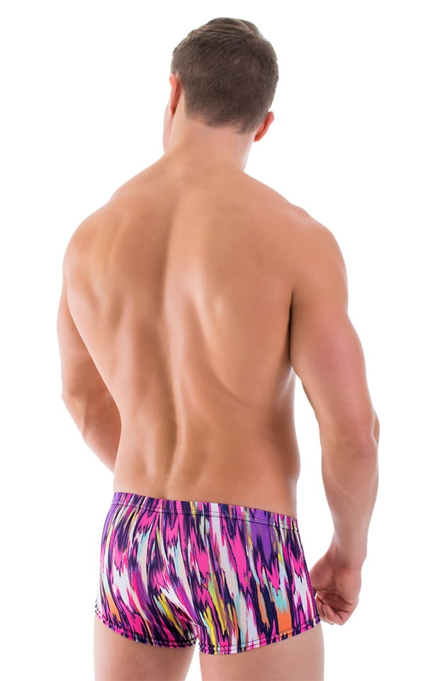 Mens Swimwear Square Cut Fitted Designer Swim Trunks