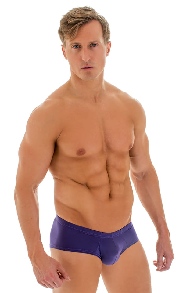 4314b44509 Pouch Enhanced Micro Square Cut Swim Trunks in ThinSKINZ Purple ...