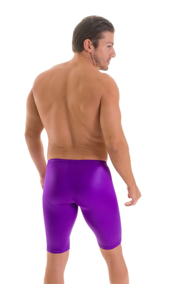 Swim-Dive Competition Watersports Shorts in Wet Look Purple 2
