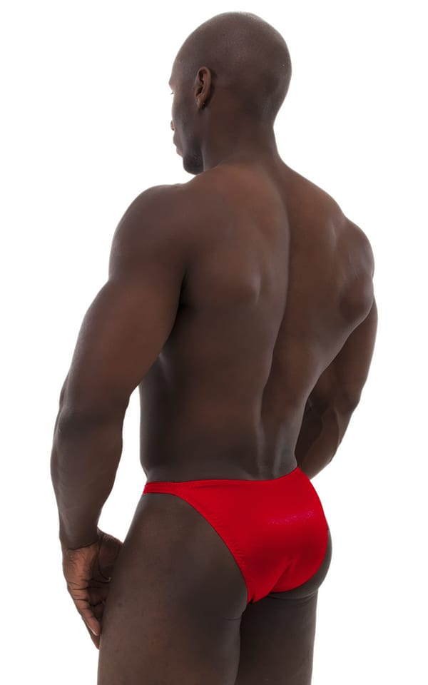 Posing Suit - Competition Bikini Cut in  Red 2