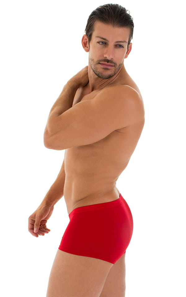 Fitted Pouch - Boxer - Swim Trunks in Red 5