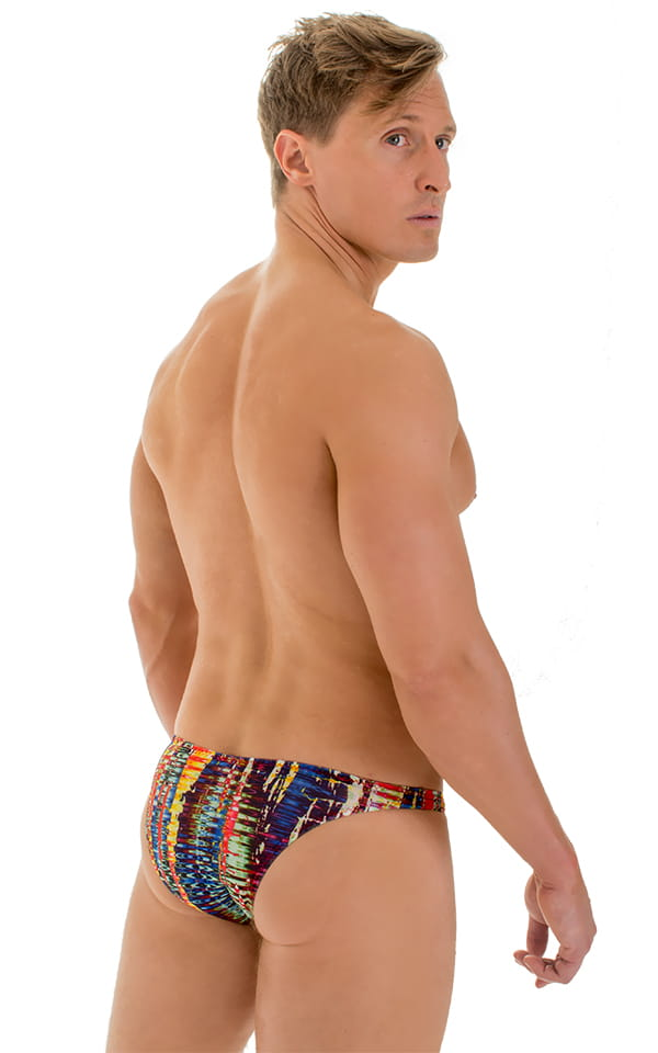 Enhancing Pouch Swim Brief in Tan Through Frequency 3