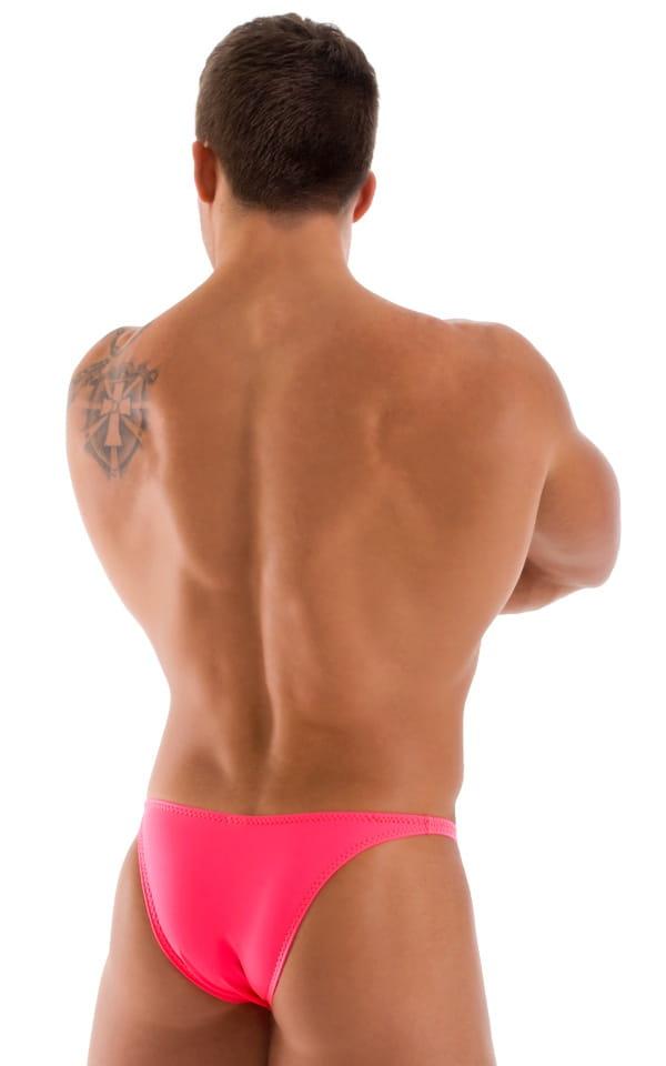 Bodybuilder Posing Suit - Narrow Back in Brilliant Coral 3