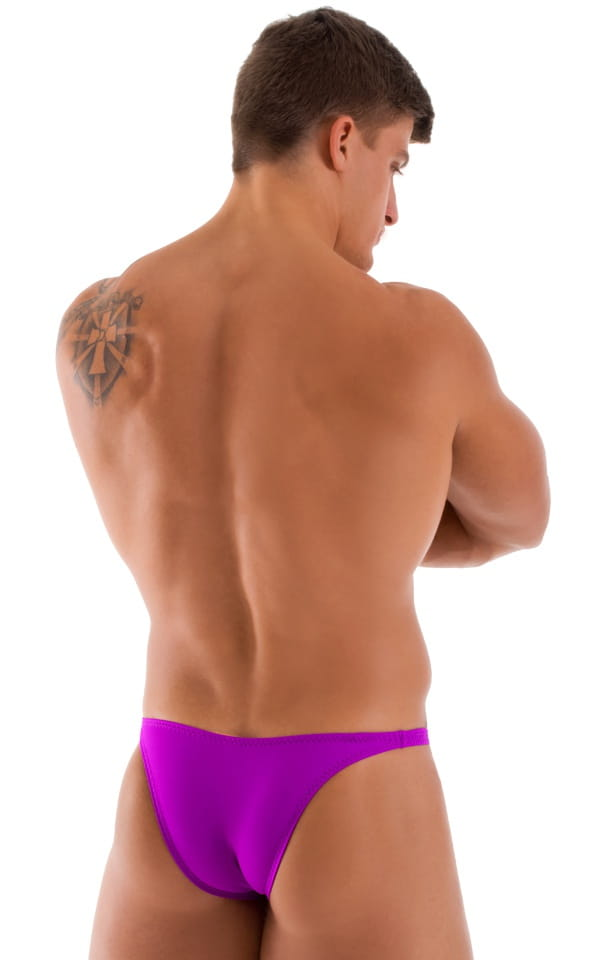 Bodybuilder Posing Suit - Narrow Back in Grape 3