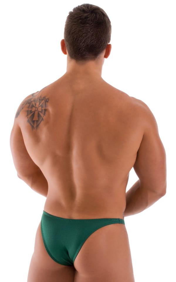 Bodybuilder Posing Suit - Narrow Back in Hunter Green 3