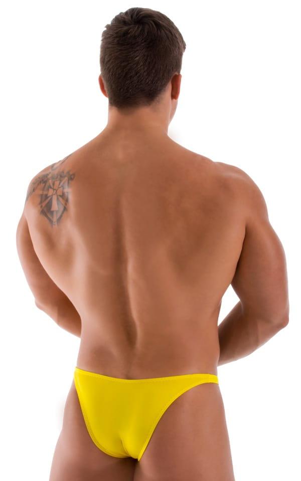 Bodybuilder Posing Suit - Narrow Back in Sunshine Yellow 3