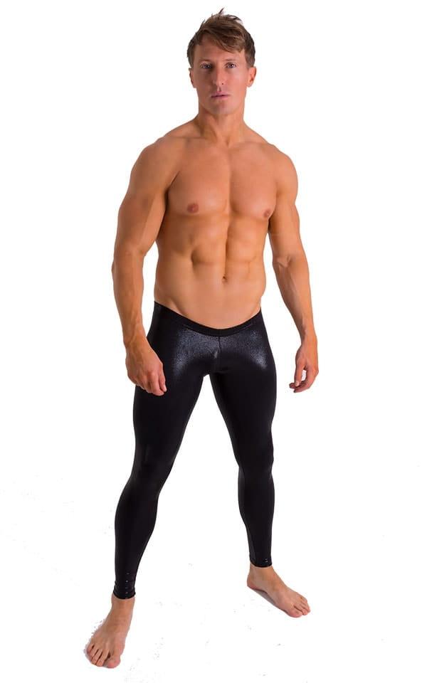 Mens SUPER Low Leggings in Rockstar Metallic Black 1