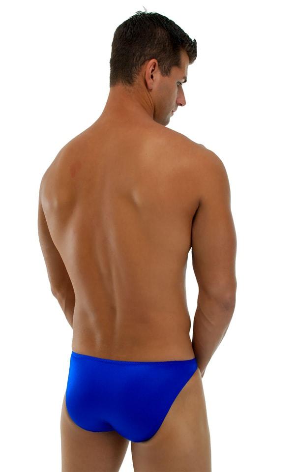 Bikini-Brief Swimsuit in Wet Look Royal Blue 3