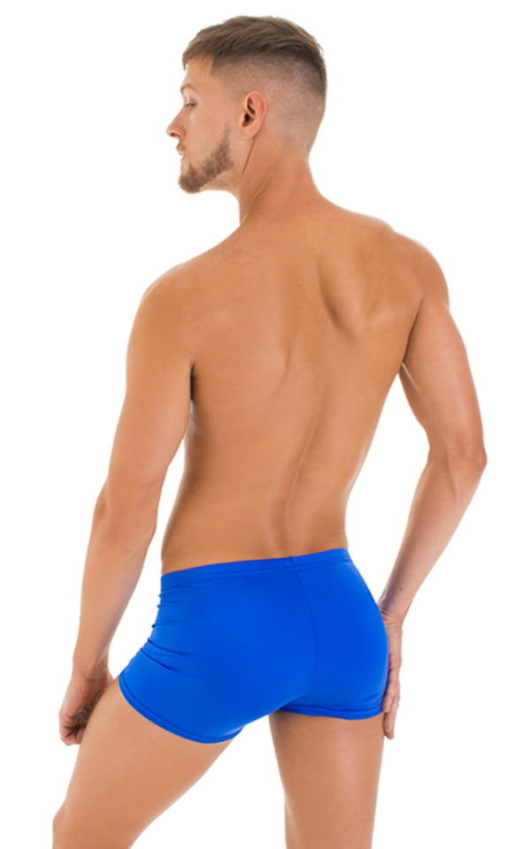 Square Cut Seamless Shorts in Royal Blue 3