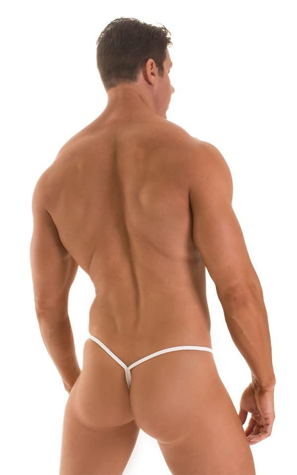 Roman G String Swim Thong in White PowerNet 3